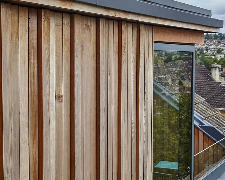 Image result for vertical oak cladding finger jointed weathered