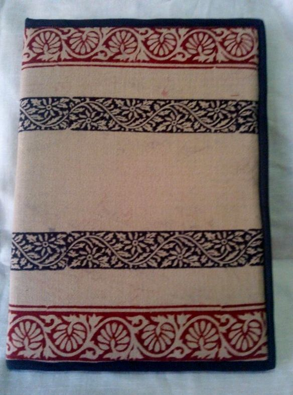 Hand-crafted, block-printed file from India