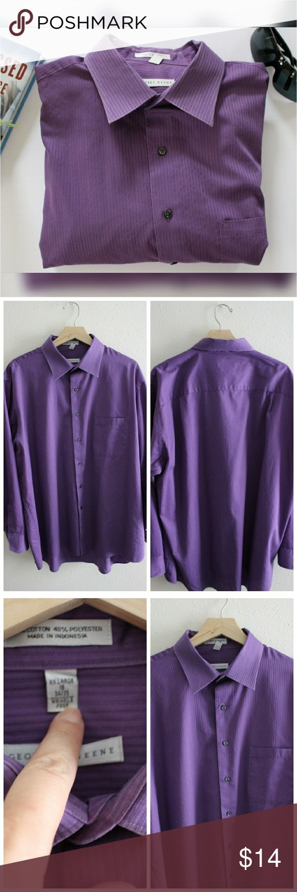 Geoffrey Beene Dress Shirt 60% cotton, 40% polyester. Wrinkle free. Size XXL. Neck:18, 34/35. Excellent condition. Geoffrey Beene Shirts Dress Shirts