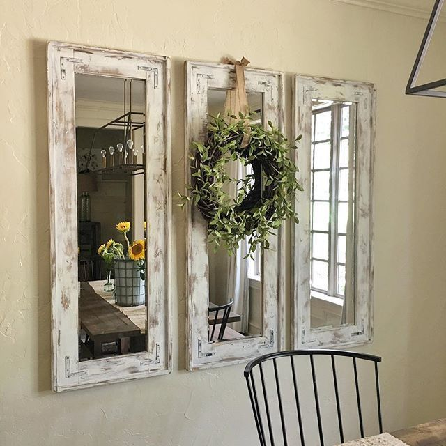 Country Design Ideas country farmhouse style decor Cool Sooo Many Questions About My Mirrors So Here We Go I Bought 3 Cheap Fra
