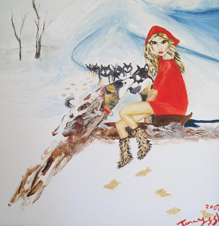 Red Riding Hood by Jenny S S Cameron, Acrylic on canvas