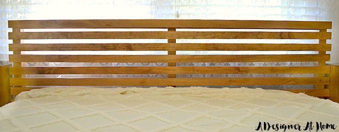 Ikea Tarva Bett Kopfteil Hack Mid Century Style In 2020 Ikea Headboard Bed Frame Hack Ikea Bed