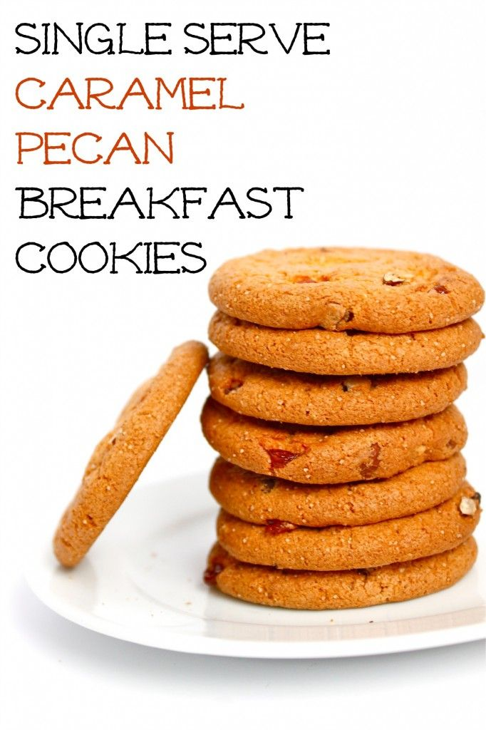 Single Serve Caramel Pecan Breakfast Cookies- high in protein, fiber and low sugar- a sinfully nutritious #glutenfree start to the day!