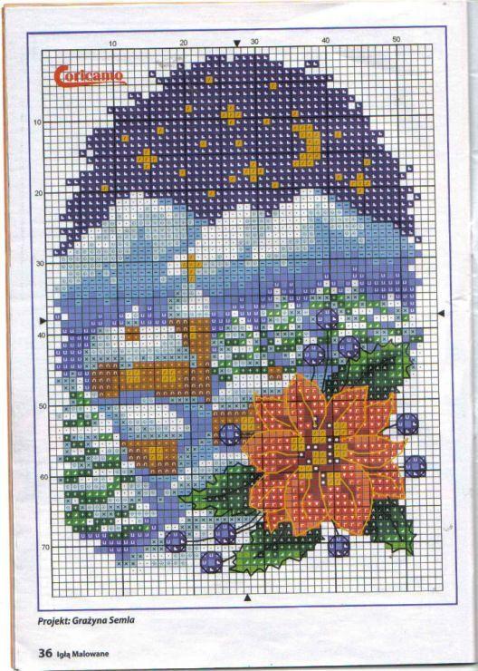 pinterest cross stitch winter scenes | Found on markisa81.gallery.ru