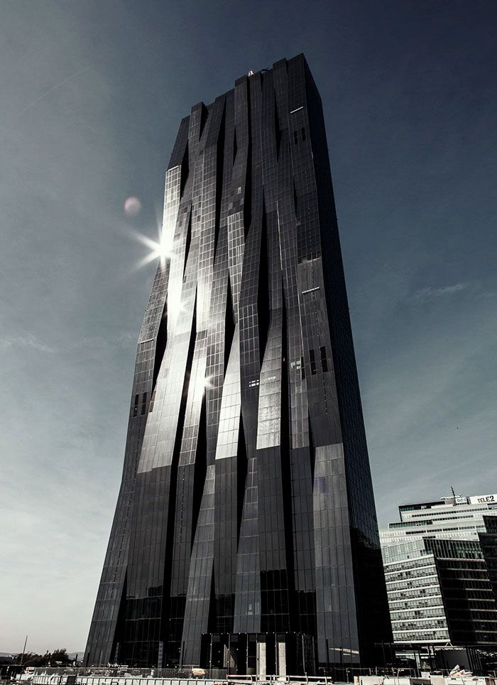 Dc Tower I, Vienna, Austria Looks like an evil fortress muahahahahaha