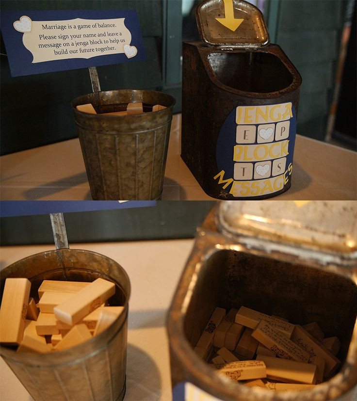 Jenga Blocks - Adorable idea to use instead of the usual wedding guestbook