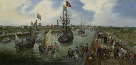 Het vertrek van een hoogwaardigheidsbekleder uit Middelburg, Adriaen Pietersz. van de Venne, 1615