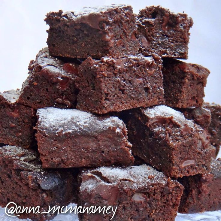 DOUBLE CHOCOLATE PROTEIN BROWNIES by Anna McManamey. For this recipe and more fitness food ideas go to: www.facebook.com/amcmanamey