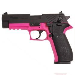 "$367 - SIG Sauer Mosquito Semi-Automatic Rimfire Handgun .22 Long Rifle 3.9"" Barrel 10 Rounds Pink Polymer Frame Blued Slide"