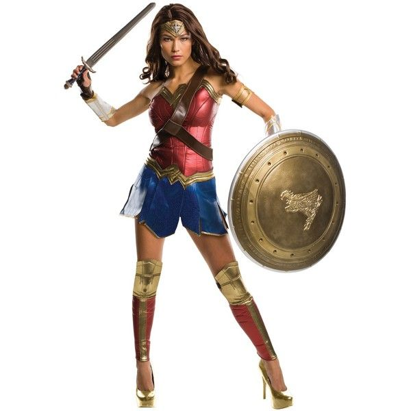 Batman v Superman: Dawn of Justice - Wonder Woman Grand Heritage Adult... ($290) ❤ liked on Polyvore featuring costumes, halloween costumes, superman halloween costume, superman costume, adult halloween costumes, white halloween costumes and dc comics halloween costumes