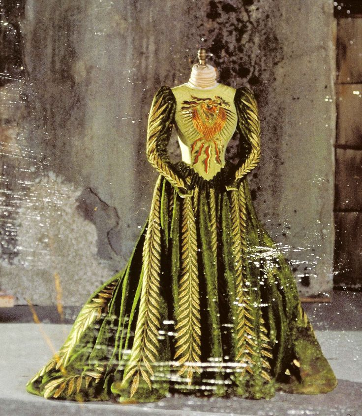 A dramatic gown worn by Winona Ryder in Bram Stokers Dracula.