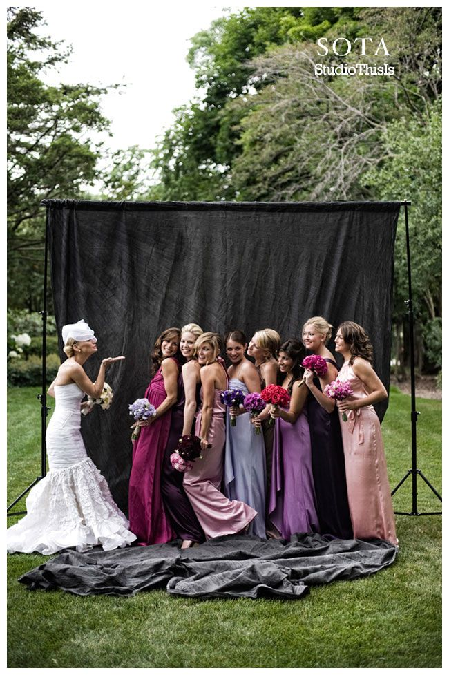 love the mixed dresses: Photos Booths, Blushes Pink, Bridesmaid Colors, Colors Palettes, Bridesmaid Inspiration, Cute Photos, Bridal Parties, Alternative Bridesmaid Dresses, Mismatched Bridesmaid