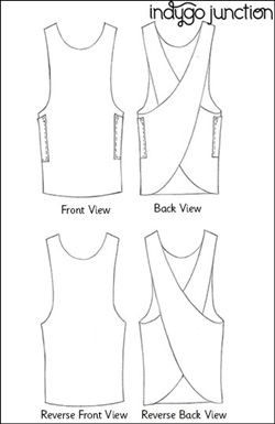 Crossback Reversible Apron sewing pattern by Indygo Junction