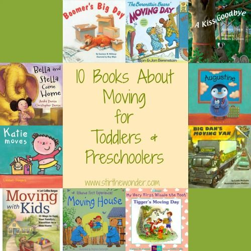 10 Books about Moving for Toddlers and Preschoolers