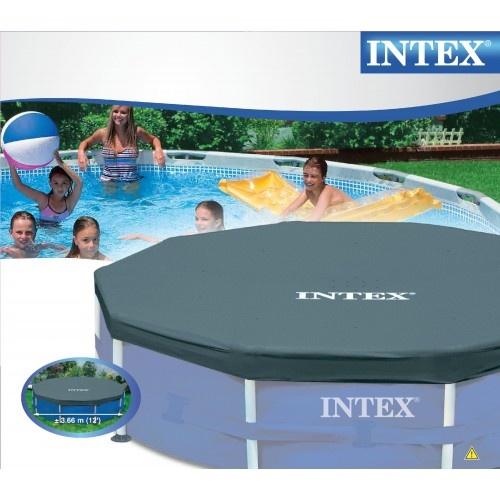 http://idealbebe.ro/intex-acoperitoare-piscina-366-cm-p-15061.html Este realizata din PVC rezistent cu grosimea de 0.18 mm. Protejeaza piscina impotriva murdariei. Se fixeaza cu ajutorul unui cordon.