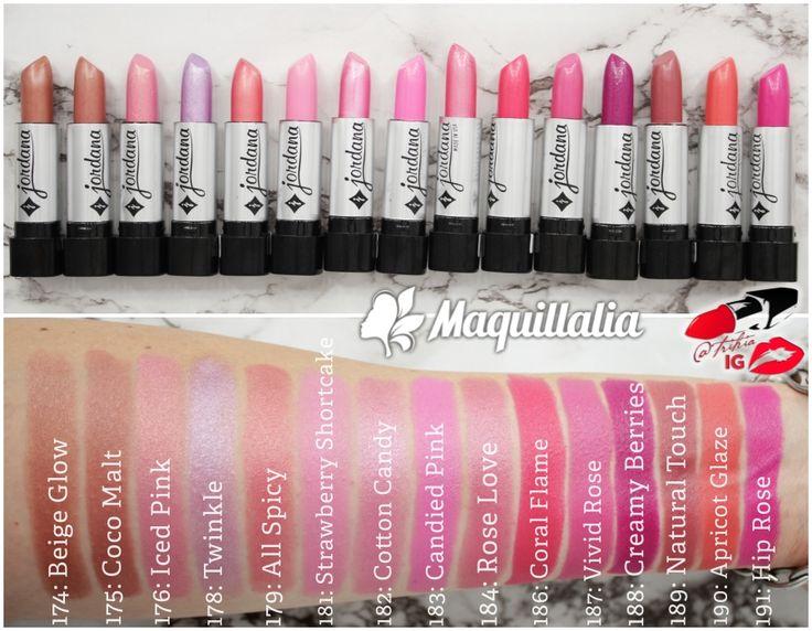 Jordana Lipsticks swatches (silver packaging) part5