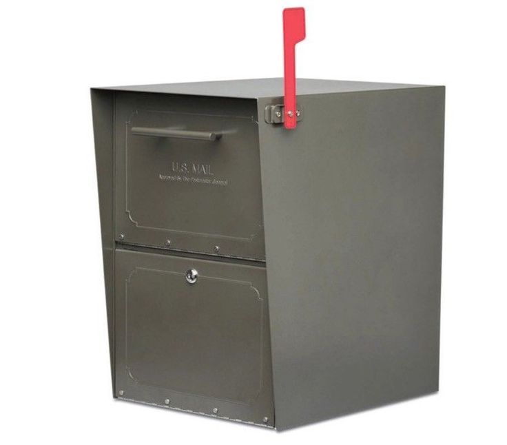 Locking Mailbox Post Mount Large Mailboxes Bronze Heavy Duty Secure Mounted GIFT #ARCHITECTURALMAILBOXES
