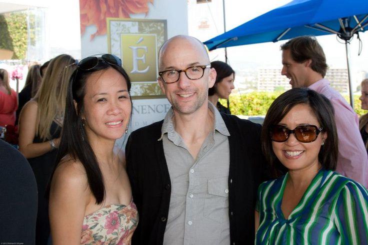 "Oscar winner Jim Rash (""The Descendants"", ""Community"") with Giselle Arroyo, Marketing VP"
