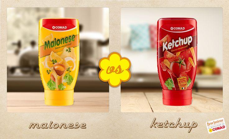 Sulla grigliata, cosa preferisci? Maionese o ketchup? Decidi tu chi vincerà la sfida tra #maionese e #ketchup!