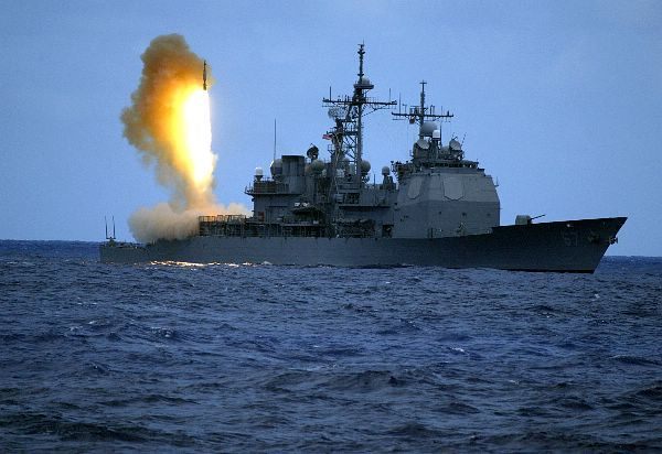 Pacific Ocean (June 22, 2006) - A Standard Missile Three (SM-3) is launched from the guided missile cruiser USS Shiloh (CG 67) during a joint Missile Defense Agency, U.S. Navy ballistic missile flight test. Two minutes later, the SM-3 intercepted a separating ballistic missile threat target, launched from the Pacific Missile Range Facility, Barking Sands, Kauai, Hawaii.