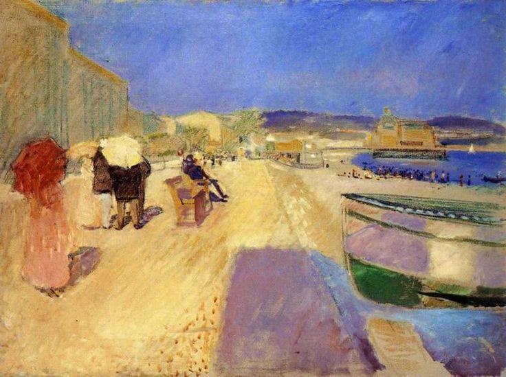 Edvard Munch - La Promenade des Anglais, Nice, 1891.