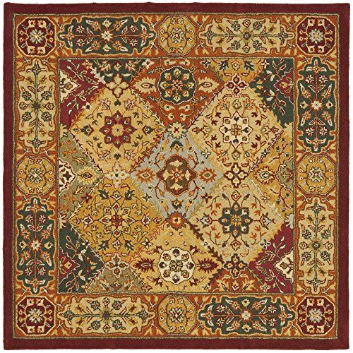 safavieh heritage collection hg512a handmade wool square area rug 8 feet by 8 feet - Square Area Rugs