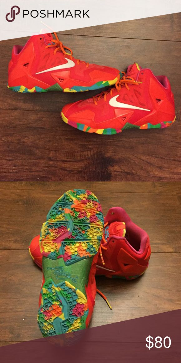Lebron 11 Fruity Pebble Lebron XI Nike Shoes Athletic Shoes