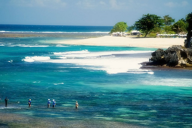 The FAMOUSLY AWESOME beach by our hotel. Get ready ladies...Geger Beach, Nusa Dua, Bali