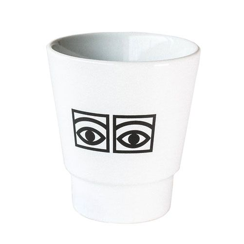 Ögon Cacao Mug 30cl Set Of 2, White, Olle Eksell