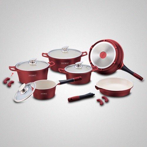 Batterie de cuisine de 14 pièces en Céramique