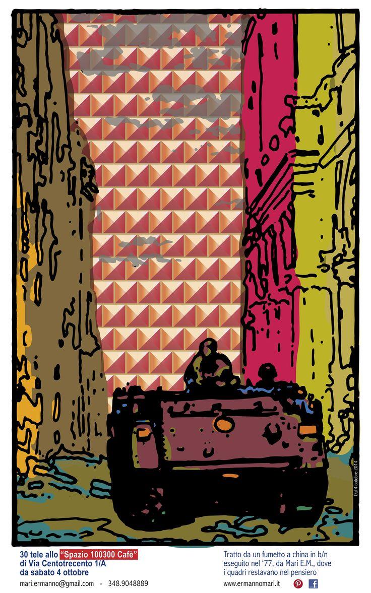 Locandina allo Spazio 100300 - B.7_frame1_98x150_3.ai - Adobe Illustrator CS6 - mostra: 1977 Bologna Via San Savino  - www.ermannomari.com