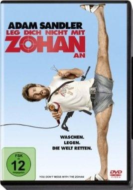 Leg dich nicht mit Zohan an  2008 USA      Jetzt bei Amazon Kaufen Jetzt als Blu-ray oder DVD bei Amazon.de bestellen  IMDB Rating 5,5 (92.782)  Darsteller: Adam Sandler, John Turturro, Emmanuelle Chriqui, Nick Swardson, Lainie Kazan,  Genre: Action, Comedy, Drama,  FSK: 6