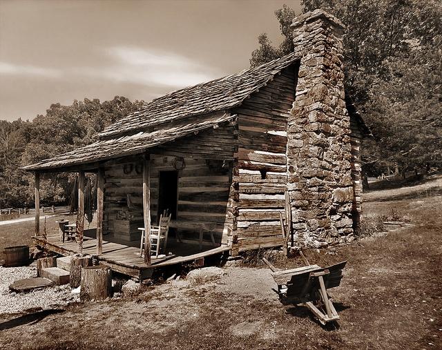 Mountain cabin in the Blue Ridge Mountains of Virginia.