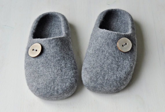 Felted slippers for men  Made to order   Eco Wool / by ShpilkaFelt, $70.00