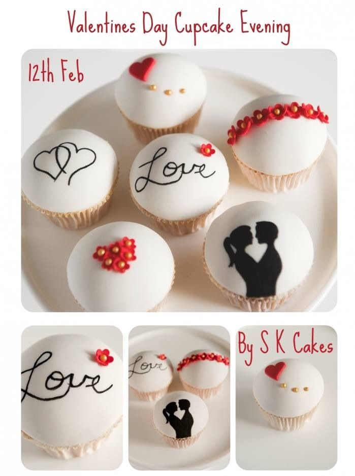 Valentine Cupcakes www.s-k-cakes.co.uk Available to come and be taught at a class or to buy for both pick up and for next day delivery.
