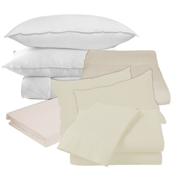 10.5 Tog Double / ¾ Bed Set & Towel    £45.50    For The Bathroom & The Bedroom:    1x 10.5 Tog Double Duvet  2x Pillows  2x Cream Pillow Cases  1x Cream Double Bed Sheet  1x Cream Double Duvet Cover  1x Cream Bath Towel