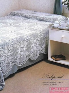 Pretty, pretty square assemble crochet bedspread with diagrams