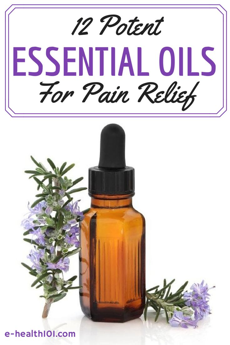 12 Potent Essential Oils For Pain Relief - We all get headaches, back aches, sports injuries and other kinds of pains. Try some of these essential oils to ease your pain - they work wonders, but without the side-effects of OTC medication! http://www.e-health101.com/2014/11/12-potent-essential-oils-pain-relief/ #naturalremedies #painrelief #essentialoils