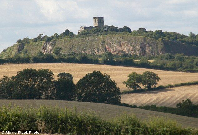 Majestic: Breedon-on-the-Hill stands on a hill in Leicestershire overlooking the surroundi...