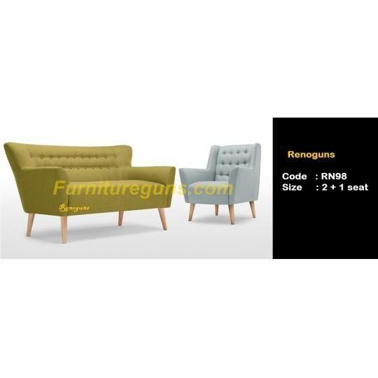sofa moderen retro 2+1 seater  berbahan kain kanvas / seperti karung  Rp 3.600.000,-