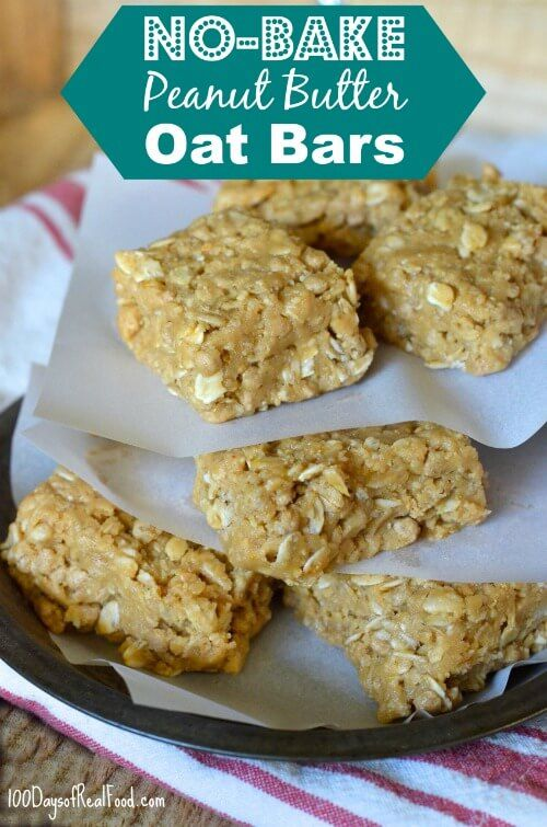 I'm personally a fan of saving time in the kitchen, so I'm excited to share these No-Bake Peanut Butter Oat Bars with you that my girls absolutely LOVE.