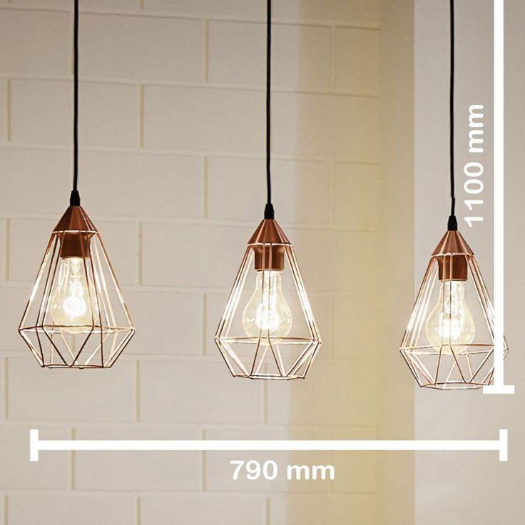 Design Balises à accrocher / Rétro/ Shabby/ Cuivre/ Lampe suspension Grille suspendue Luminaire suspendu Suspension
