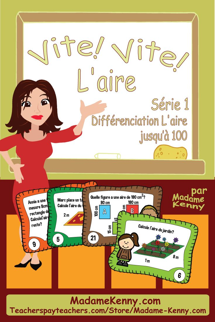 Our newest product is a print and go product titled French Math Task Cards: Area Series 1...Cartes à tâches L'aire séies 1. This product is a fun way for your little learners to practice their math and geometry skills. https://www.teacherspayteachers.com/Product/French-Math-Task-Cards-Area-Series-1-Cartes-a-taches-Laire-Serie-1-2118661