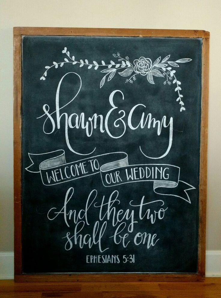 Welcome To Our Wedding Chalkboard Wedding Chalkboard