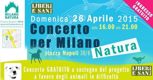 Concerto benefico pro animali il  26 Aprile in Piazza Napoli a Milano
