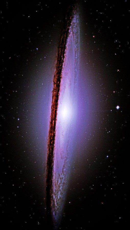 The Majestic Messier-104 (M-104) Sombrero Galaxy; Photo By NASA Hubble Space Telescope