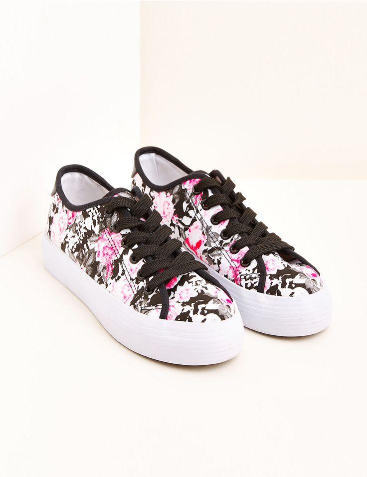 Baskets compensées fleuries blanches et multicolore - http://www.jennyfer.com/fr-fr/accessoires/chaussures/baskets-compensees-fleuries-blanches-et-multicolore-10006578098.html