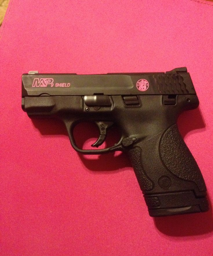 Smith & Wesson M&P Shield 9mm, extended magazine. I would want the detailing in red for mine though