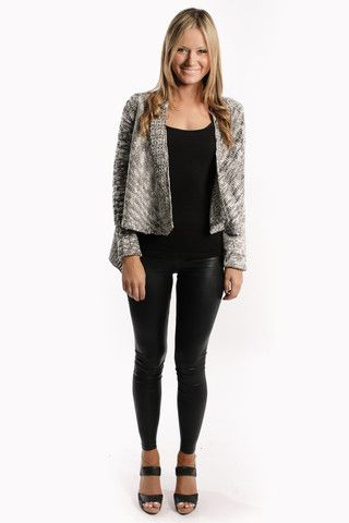 you and me cardigan - black/white - sale