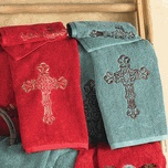 Turquoise & Red Towel Sets